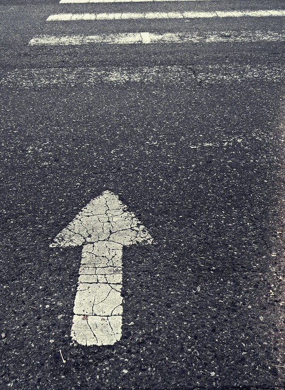Cross here.