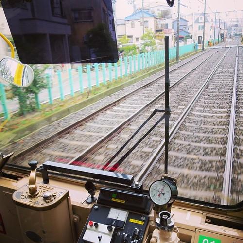 運転席(後部)から #都電pw2015