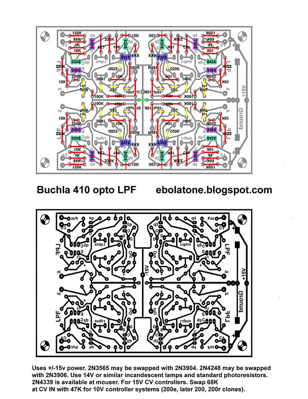 Buchla 410 Quad Filter Etch