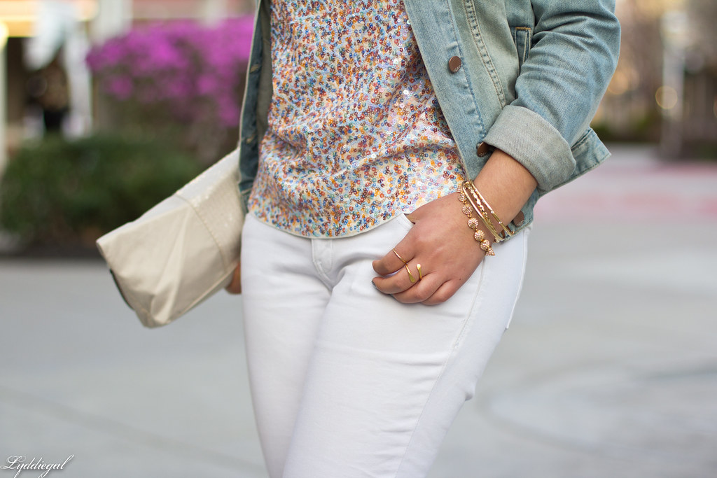 sequined tee, white jeans, denim jacket, silver pumps-7.jpg