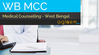 WBMCC Counselling and Seat Allotment - WBPGMAT / WBPGDAT