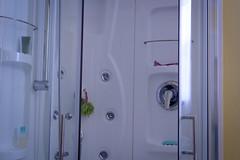 room(1.0), plumbing fixture(1.0), shower(1.0), door(1.0), bathroom(1.0),