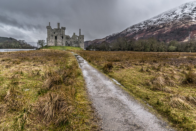 Kilchurn castle, Lochawe, Scotland, United Kingdom