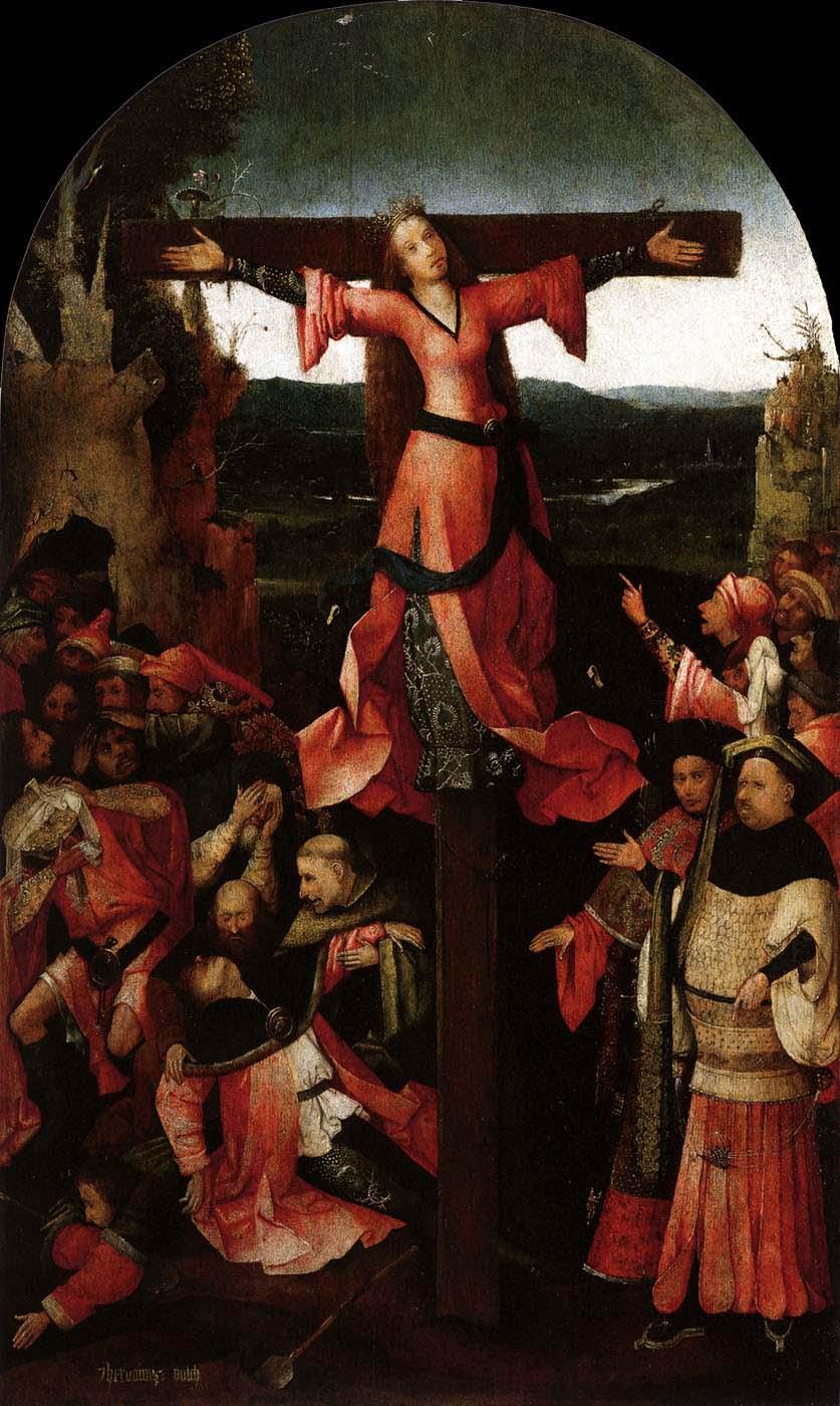 Hieronymus Bosch, Kreuzigung der Julia von Korsika, 1497--1505