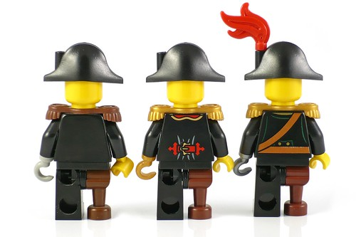 Three Pirate Captains (LEGO Pirates, Pirates 2 & Pirates 3) B