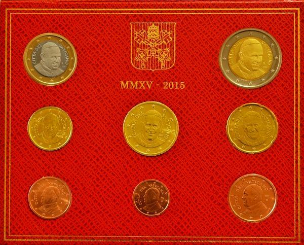 Oficiálna sada 8 Euro mincí Vatikán 2015