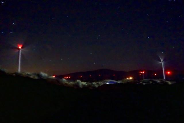 Wind farm at night, m533