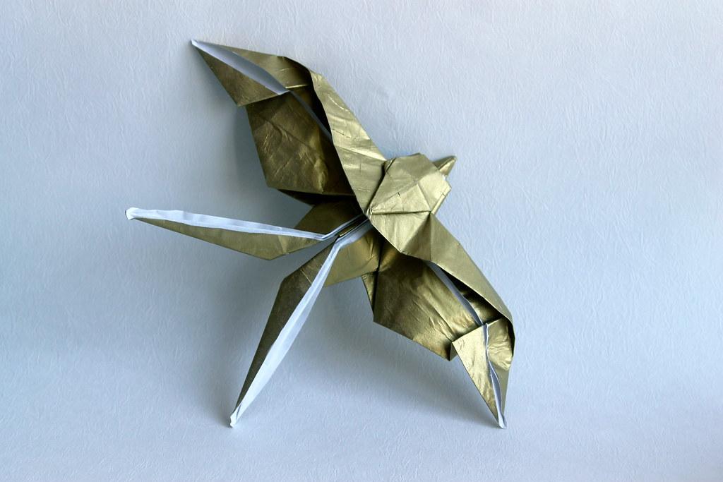Illustration Origami Swallow Birds On White Stock-Vektorgrafik ... | 683x1024