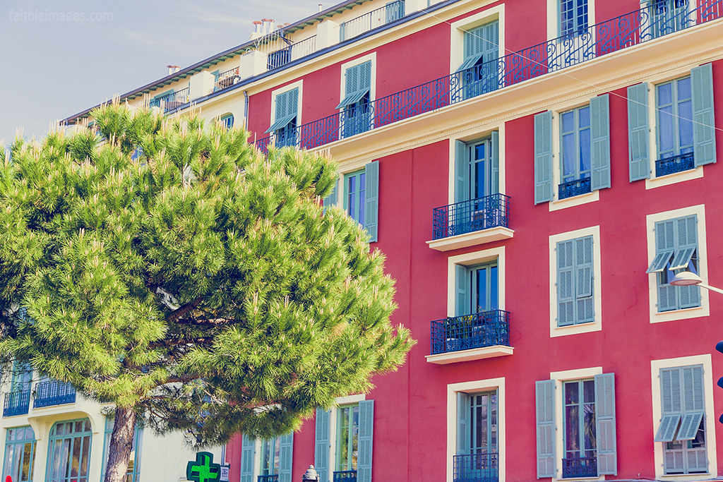 Colorful buildings in Southern France