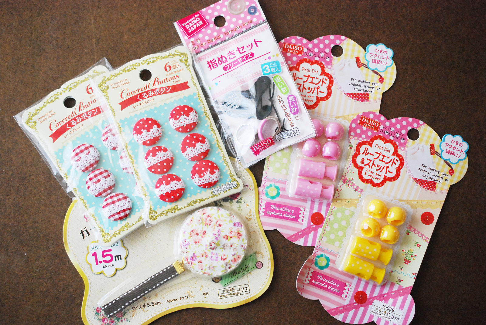 Daiso shopping trips spoils
