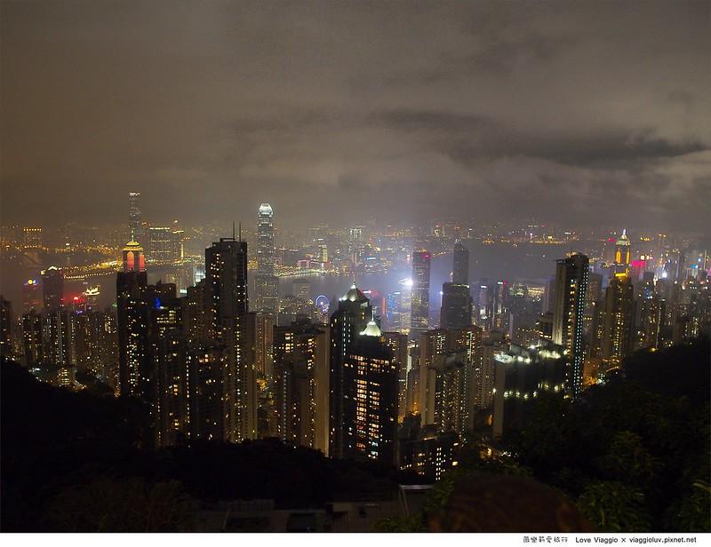 【香港 Hong Kong】中環夜生活 太平山頂絢麗的維多利亞港夜景與蘭桂坊酒吧 @薇樂莉 Love Viaggio | 旅行.生活.攝影
