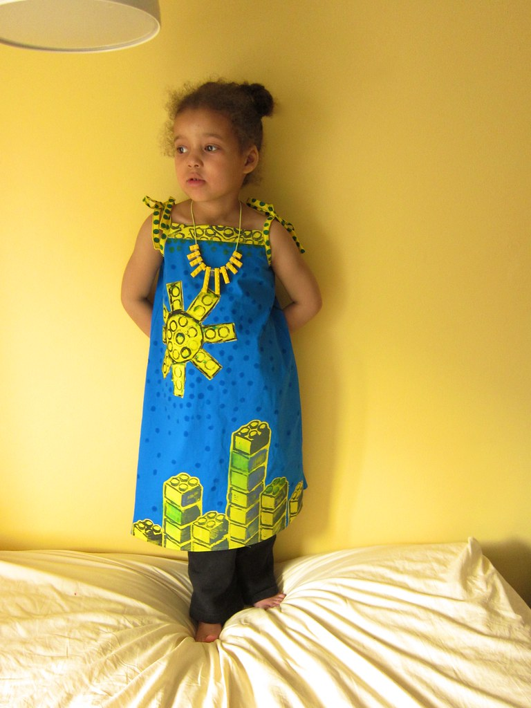 38ca4ec0a65 Block-Printed Lego Cityscapes Dress (Oliver + S Popover Sundress)