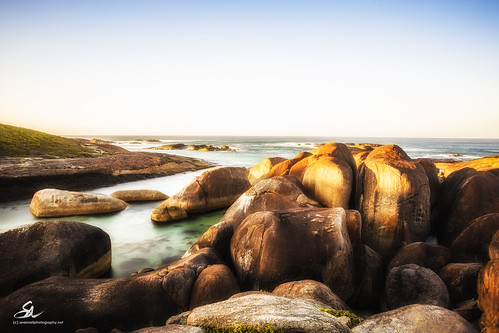 seascape sunrise rocks australian wa westernaustralia elephantrocks williambay elephantscove