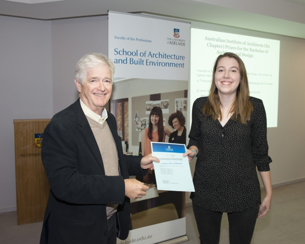 2014 Winner: Charlotte Symonds - Presented by Prof Steve Grieve on behalf of AIA (SA Chapter)