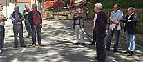 Carlos Totorika reunido con los vecinos/as afectados/as