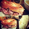 A #memory #filled #taste of #home #Philly #nj #nyc for #lunch #wawa #pretzel #sandwich #slow #roast #beef #sauerkraut #swiss #cheese #inglehoffers #pepper and #boarshead #mustard #spicy #sweet #soft #toast #melt #savory :bread:☕:honey_pot::globe_with_meri