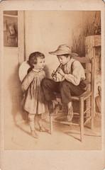 "269. ""The flute-player"" by Édouard Frère (c.1872, photographed c.1870s)"
