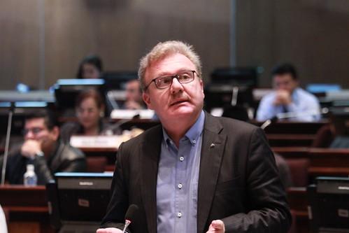 Asambleísta Ramiro Aguilar, interviene en la sesión 317 del Pleno