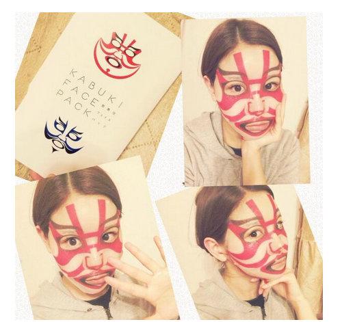 「超話題になった歌舞伎の次は動物フェイスパック!パックしながら変身!」に含まれるツイート画像|MERY [メリー] - Mozilla Firefox 4242015 113011 AM