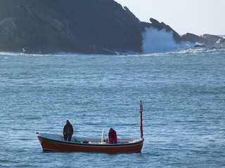 Embarcación en la Bahía de la Concha (Donostia)