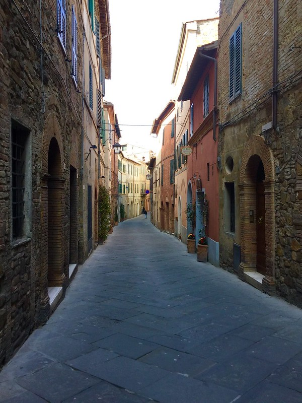 Montalcino street in early March without tourists. Come see Tuscany in the off season!