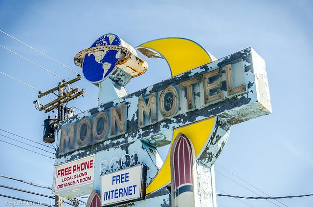 Abandoned Moon Motel - Vintage Neon Sign - IV