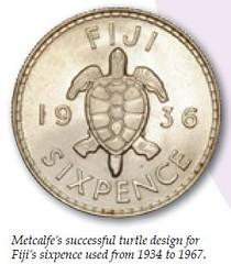 Metcalfe Fiji Turtle coin