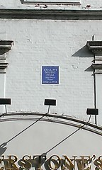 Photo of Collins Music Hall blue plaque