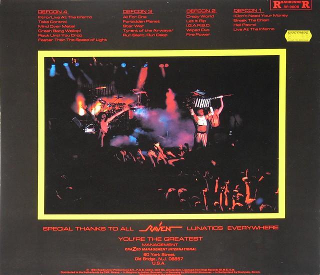 "Raven Live at the Inferno NWOBHM 12"" Viny LP"