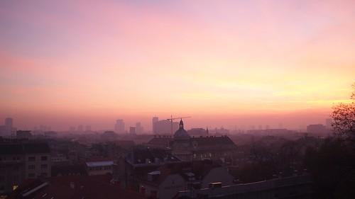 sunset zagreb