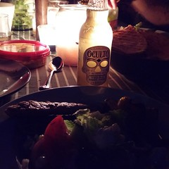 Dinner. Beautiful night out. #Oculto #nofilter