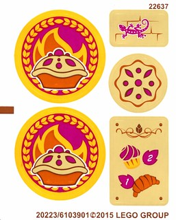 LEGO Elves 41074 Azari and the Magical Bakery stickers