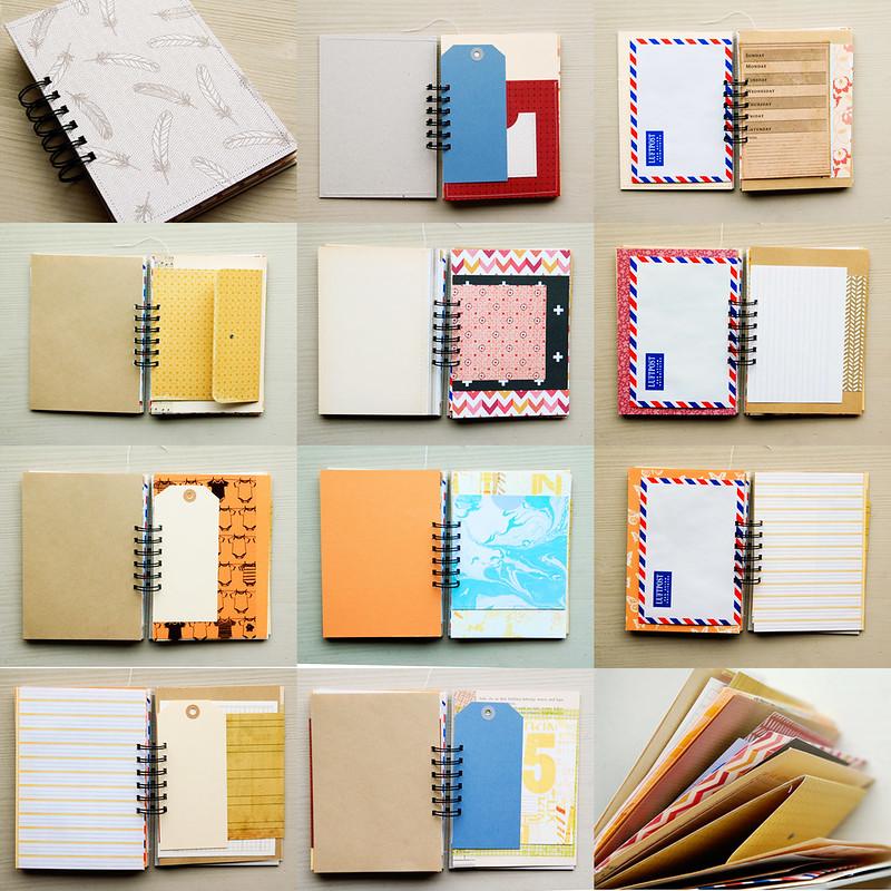 Happy notes mini album and scrapbook kit