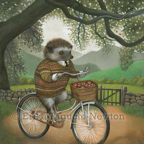 "Hedgehog Painting, ""Arthur"""