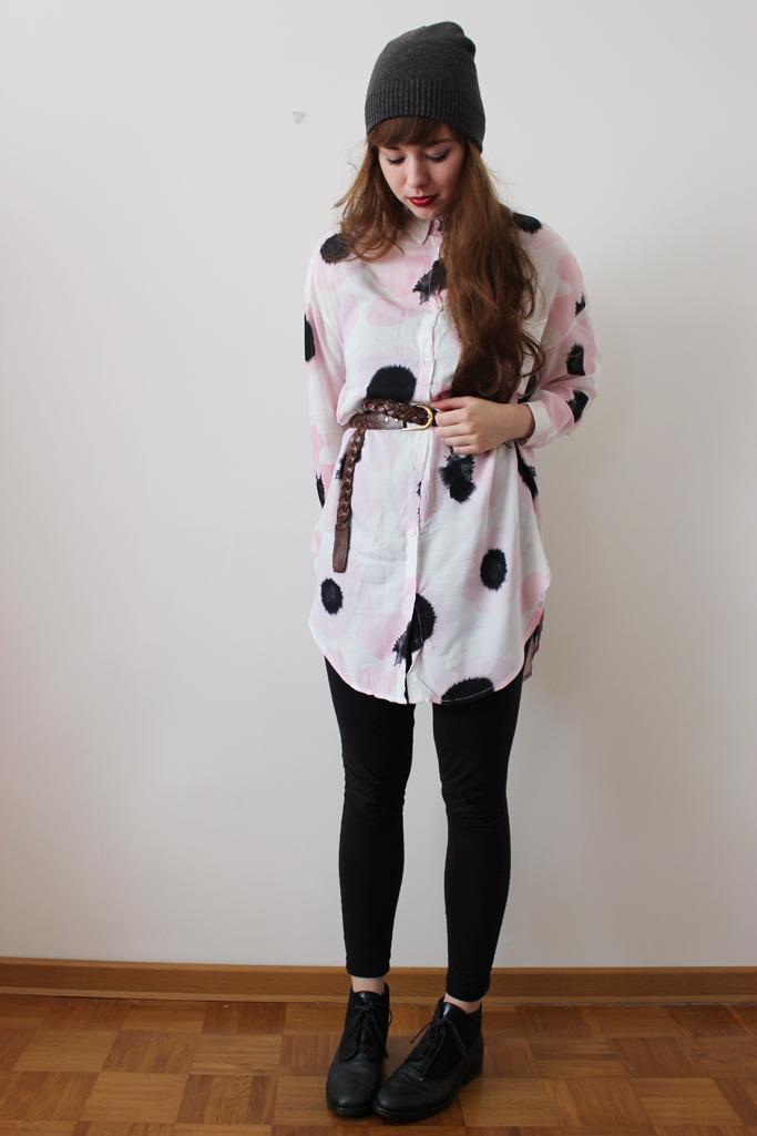 hemdbluse printbluse outfit blogger