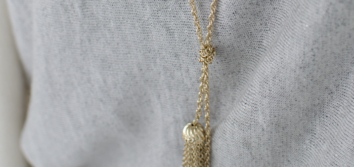 blanket time, forever21 longline tassel necklace