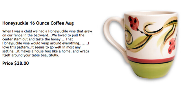 Gail Pittman, Honeysuckle Mug