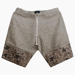 textile, brown, clothing, trunks, outerwear, shorts,