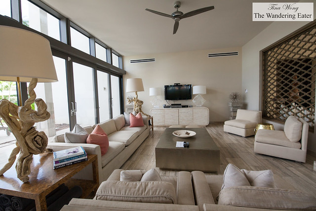 Inside the living area of the Four Bedroom Oceanfront Villa
