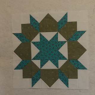 1st swoon block done & it came out the right size! 😱🎉 Just need to experiment with which direction I want to press the seams on the next one...some spots are so bulky. 😕 #thimbleblossoms #swoonquilt #swoonalong2015 #swoon #alyof @hawt