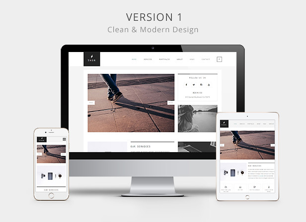 Thor - Creative portfolio HTML5 Website Template - 6