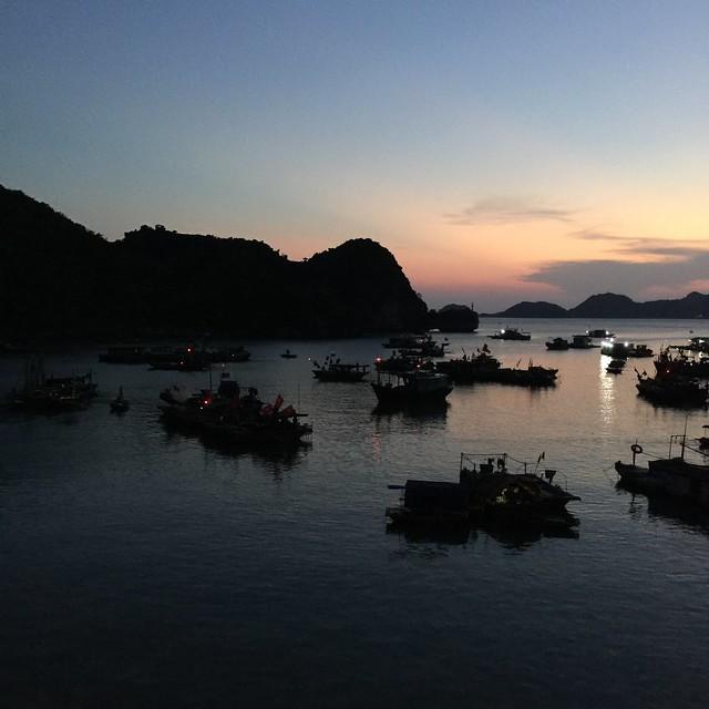 Sunset on Cat Ba Harbor