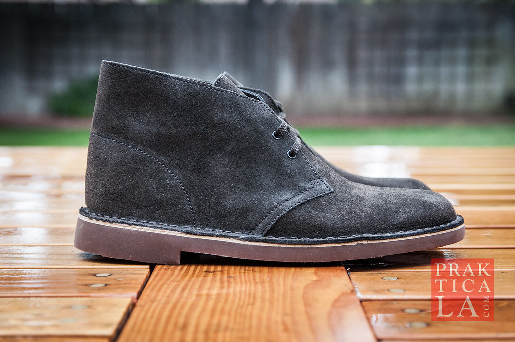 Water Stained Black Suede Shoes