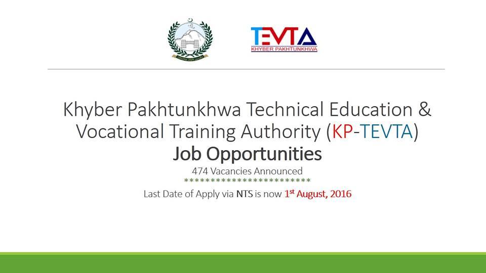 Khyber Pakhtunkhwa Technical Education Vocational Training
