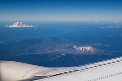 Mt. Rainier, Mt. St. Helens