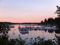 Sunset at Quartermaster Marina is today's virtualvacay #VashonIsland #WA