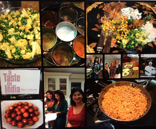 Dinner Party Featuring Indian Food