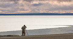 Me and myself shooting near Yellowstone Lake