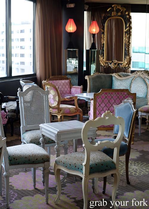 Lounge area at Hippopotamus Restaurant at Museum Hotel, Wellington