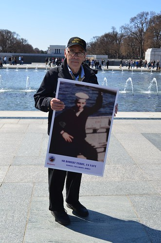 Bob at the National World War II Memorial